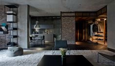 Industrial Meets Nature In This Remarkable Loft In Kiev
