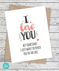 Funny Boyfriend Card by FlairandPaper on Etsy