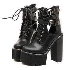 high heels platform ankle boots