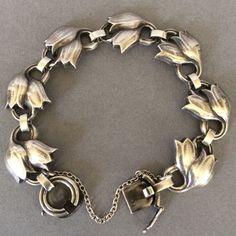 Gallery 925 - Georg Jensen Tulip Bracelet No. 100B. Handmade Sterling Silver.