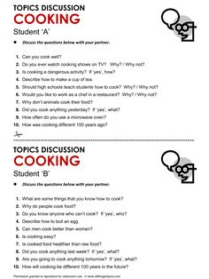 Cooking, English, Learning English, Vocabulary, ESL, English Phrases, http://www.allthingstopics.com/cooking.html