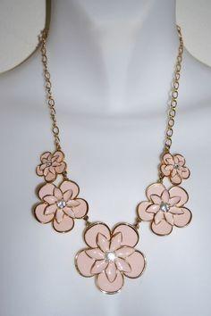 $39.95 Kate Spade Graceful Floral Pink & Gold Statement Necklace Kate Spade New York #KateSpade #Statement