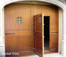 barn door with access door inset - Google Search