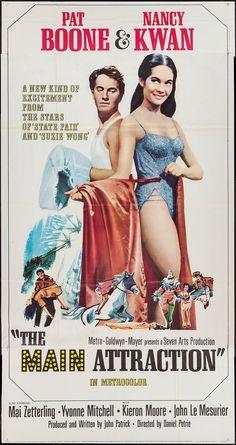 The Main Attraction (1962) Stars: Pat Boone, Nancy Kwan, Mai Zetterling, John Le Mesurier ~ Director: Daniel Petrie