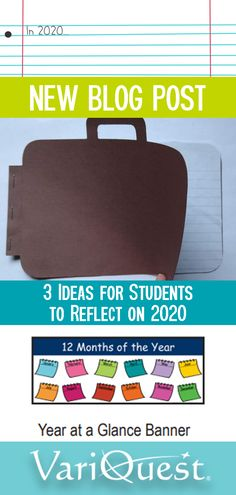 We wouldn't be able to teach history in our classroom if no one had documented it, and because no two experiences are alike, it is a valuable exercise to encourage our students to document their own experiences at 2020's end. Here are 3 ideas for students to reflect on 2020 as a learning assignment, social-emotional wellbeing exercise, or just a fun holiday tradition they can start with their families: 21st Century Classroom, Letter To Yourself, Holiday Traditions, Months In A Year, News Blog, Learning Activities, Holiday Fun, Reflection, Families