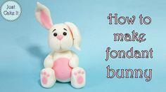 How to make fondant bunny figurine cake topper tutorial https://www.youtube.com/watch?v=L3EYAunvFys