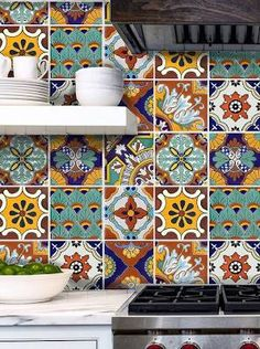 Tile Stickers for Kitchen Bath ...