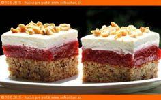 Jahodová brutalita - My site Cake Bars, Something Sweet, Dessert Recipes, Desserts, Sweet And Salty, Vanilla Cake, Sweet Recipes, Cheesecake, Food And Drink