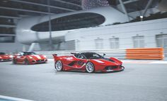 Ferrari claims the FXX K laps its 1.862-mile Fiorano test circuit in 1 minute, 14 seconds. That's five seconds quicker than a LaFerrari. We asked what a LaFerrari on slicks might do, and Ferrari product marketing director Nicola Boari suggests that gumballs would be good for perhaps a second. The other four ticks are due to the extreme aero mods and additional power.   - RoadandTrack.com