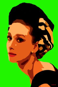 51-POP Art. Audrey Hepburn.