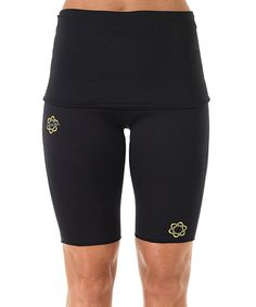 I love Zaggora HotPants! I wore them to boot camp all the time!   Take a look at this Black Fold-Over HotPants™ Shorts on zulily today!