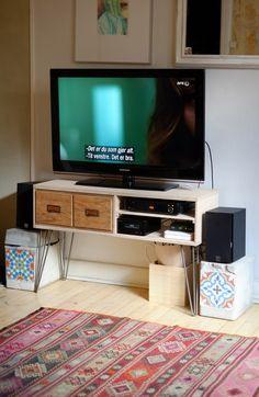 Home-made TV bench:) bohemian interior