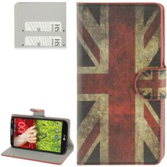 LG Optimus G2 horizonale Flip cover, case, hoesje UK flag