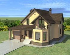 Kerala House Design, Unique House Design, Mexican Style Homes, Roof Shapes, Sims House Design, European House Plans, Tree House Designs, Kerala Houses, House Paint Exterior
