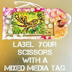 Create layers with stencils and Colouricious Block Printing to make unique label tags for your property Stencil Art, Stencils, Textile Recycling, Paper Crafts, Art Crafts, Mixed Media Collage, Textiles, Create, Creative Art