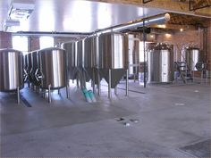 Serving tanks & brewhouse