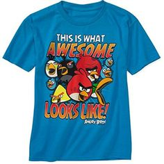 """ANGRY BIRDS """"This is What Awesome Looks Like"""" Boys Shirt XXL 18 -- Awesome products selected by Anna Churchill"""