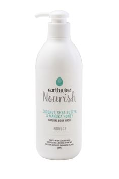 earthwise nourish coconut, shea butter and manuka honey natural body wash