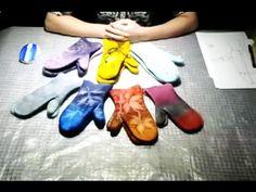 Валяние из шерсти  ✿  Варежки  ✿  Раскладка, декор  ✿  МК Екатерины Соколовой - YouTube