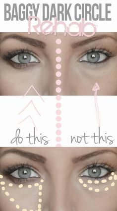 How to Apply Concealer to Hide Dark Under Eye Circles - Tips and Tricks for Undereye Concealer, Hiding Dark Circles Beauty Secrets, Diy Beauty, Beauty Makeup, Beauty Hacks, Beauty Care, Beauty Skin, Homemade Beauty, Beauty 101, Beauty Ideas