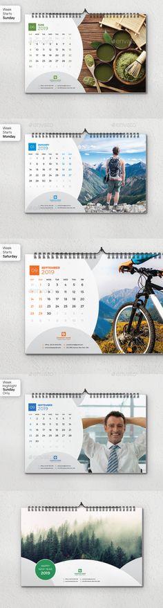 Wall Calendar 2019 Table Calendar Design, Calendar 2019 Design, Print Monthly Calendar, Printable Blank Calendar, Calendar 2020, Calendar Ideas, Creative Artwork, Desk Calendars, Flyer Design