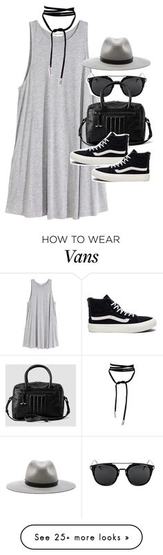 """Outfit with a jersey dress and Vans"" by ferned on Polyvore featuring H&M???"