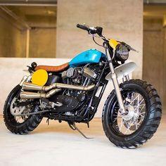 On the Road (and Off): @StkdSurfMoto's Kerouac Triple-Double Sportster. : @JoncySumulong :: #Harley #sportster #xl1200 #xl1200x #sportster1200 #scrambler #tracker #streettracker #sportstertracker #builtnotbought