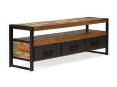 Great Lowboard TV Bank 160cm Antik Holz Metall Designer  Awesome Ideas