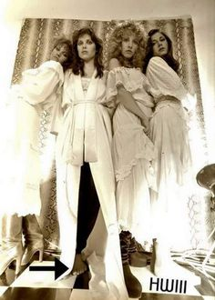 Lori Perry, Sandy Stewart, Stevie Nicks & Sharon Celani. Photographed by Herbert Worthington III.