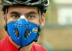 Respro® Techno™ Mask - blue http://respro.com/store/product/techno-mask #respro #airpollution