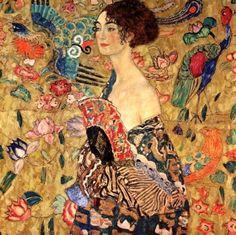 Woman With A Fan, Gustav Klimt