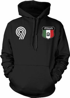 Italian Crest International Retro Soccer Sweatshirt, Italia National Pride Mens Pullover Hoodie, X-Large, Black on http://jersey2014.kerdeal.com/italian-crest-international-retro-soccer-sweatshirt-italia-national-pride-mens-pullover-hoodie-x-large-black