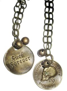 """Fuck Forever"" Necklace by Butter and Jelly #InkedShop #necklace #jewelry #accessories"