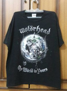 Jual Motorhead - The World Is Yours. Official Merchandise (XL) - DPM ROCK HOUSE | Tokopedia