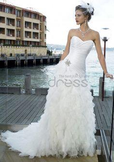 Abiti da Sposa Spiaggia-Principessa treno taffettà tulle abiti da sposa spiaggia