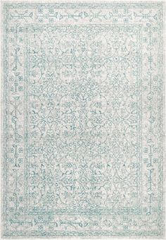 Nuloom Rugs Vintage Pauley Light Blue 5 Feet X 7 Feet 5