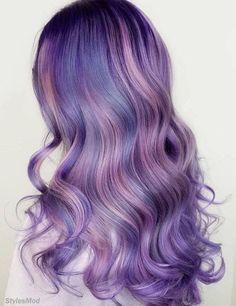 Lavender hair color shades: lavender hair dye tips. Hair Color Shades, Hair Color Purple, Hair Dye Colors, Cool Hair Color, Purple Tips, Purple Hair Streaks, Blonde Shades, Shades Of Purple, Lavender Hair Colors