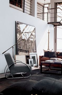 Ralph Lauren Home's Hudson Street Lounge Chair is a chic, avant-garde addition to any urban living room