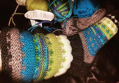 Regnbuesokker strikkasokker socks knitting strikking