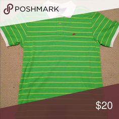 Lime Green Nike Polo Never worn before lime green Nike polo Nike Shirts Polos