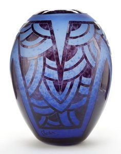 SCHNEIDER LE VERRE FRANCAIS GLASS NENUPHARS VASE  Charles Schneider Glassworks, Épinay-sur-Seine, France, circa 1930