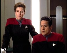 Captain Janeway and Chakotay - The Gift