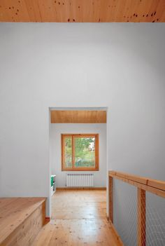 ine and fir timber fittings and window frames along with white walls create a simple material palette, punctuated by areas of green and yellow. Patio Interior, Cladding, Minimalism, Indoor, Contemporary, Architecture, Gallery, House, Furniture