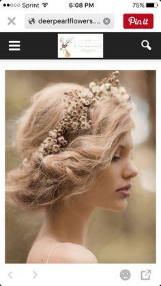 Wedding hair wreath