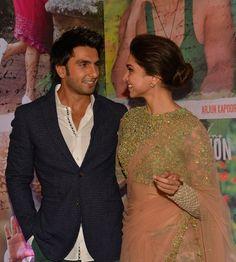 Deepika Padukone and Ranveer Singh at the success bash of Finding Fanny in Mumbai.