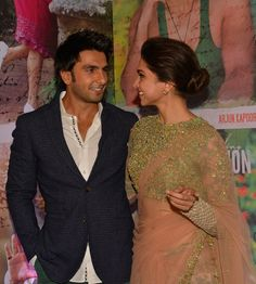 Deepika Padukone and Ranveer Singh at the success bash of Finding Fanny in Mumbai.