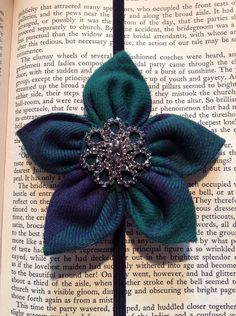 Flower Bookmark with Jewel Center on Etsy, $11.00