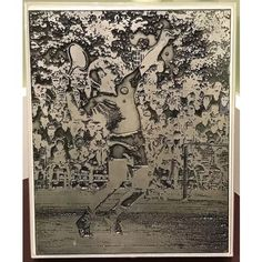 Naomi Savage Abstract Photoengraving of a Male Tennis Player, Classic Form
