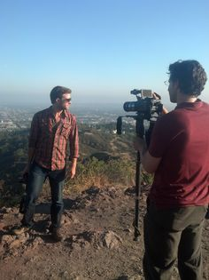 """Griffith Park- Director, David Kalisher and """"Martin,"""" Kevan Moezzi."""