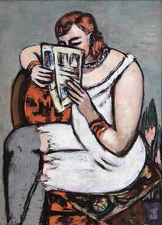 Mujer leyendo - Max Beckmann (12 de febrero de 1884 - 27 de diciembre de 1950)